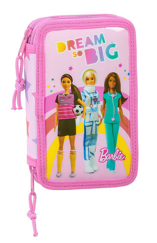 "BARBIE PLUMIER DOBLE 28 PIEZAS ""DREAMER"""