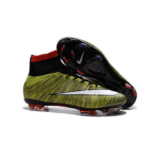 Nike Mercurial Superfly FG amarillas/marrones y logo blanco