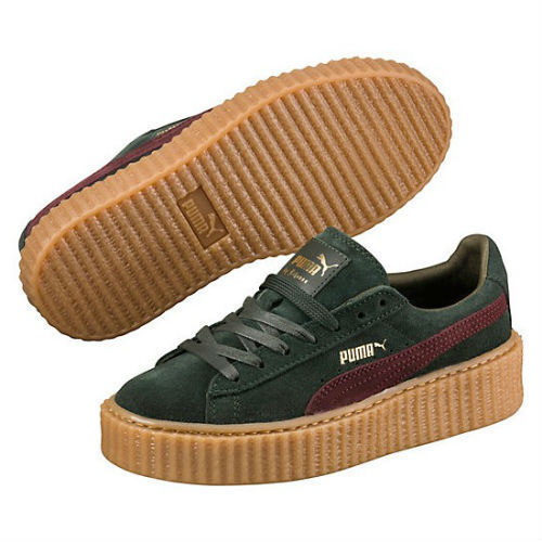 Puma Creeper by Rihanna verdes y burdeos
