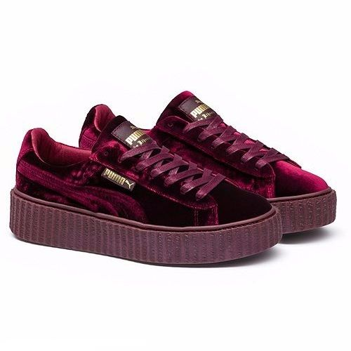 Puma Creeper Velvet by Rihanna burdeos