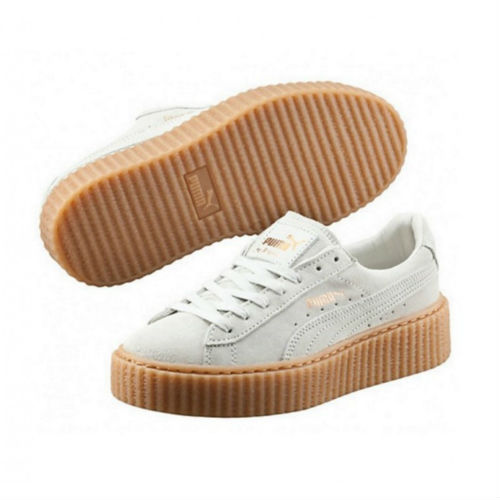 Puma Creeper by Rihanna blancas y suela marrón