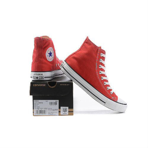 Converse All Star rojo claro altas
