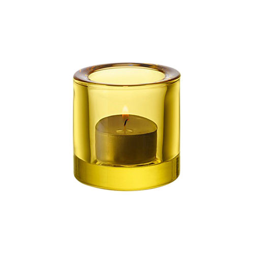 Candleholder IITTALA Kivi Votive 60mm Lemon