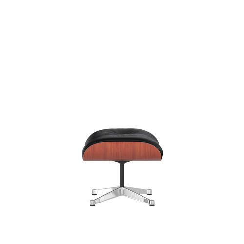 Ottoman VITRA Cherry Leather Base Chrome