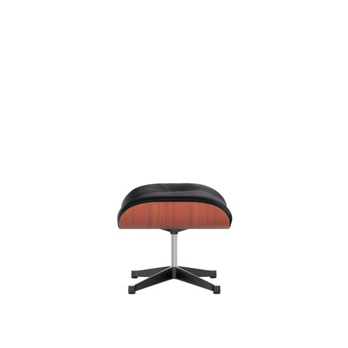 Ottoman VITRA Cherry Leather Base Black