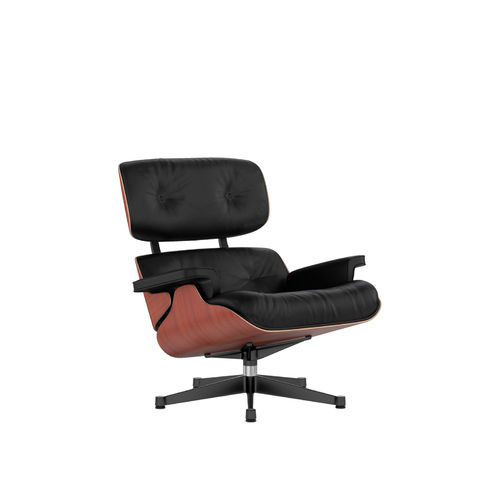 Lounge Chair VITRA Cherry Leather Base Black