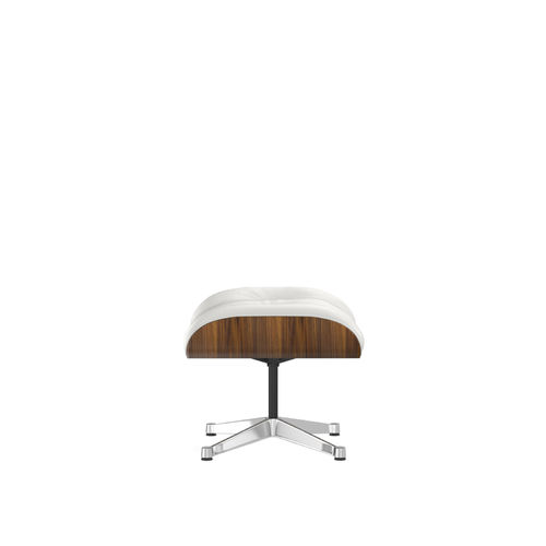 Ottoman VITRA Walnut Leather Base Chrome