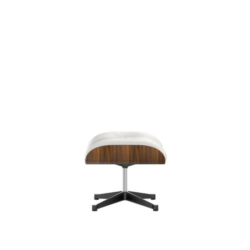 Ottoman VITRA Walnut Leather Base Black