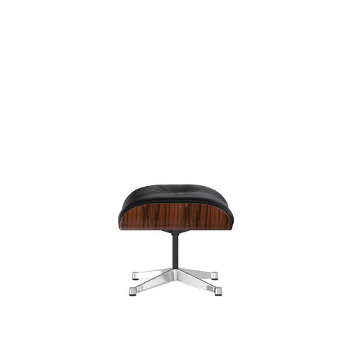 Ottoman VITRA Palisander Leather Base Chrome