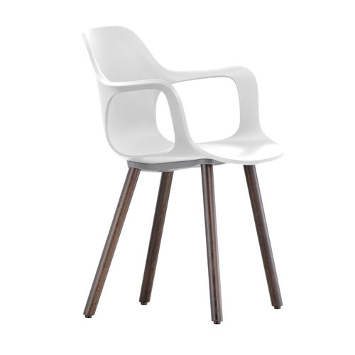 Silla VITRA Hal Armchair Wood Roble Oscuro