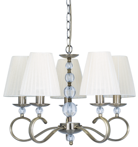 LAMPARA SERIE ALABAMA CUERO/BEIGE 5 LUCES