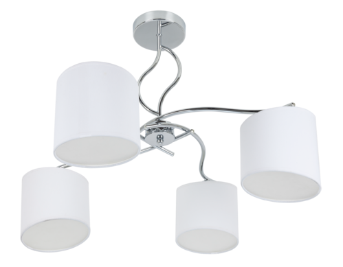 LAMPARA GISELE BLANCO/CROMO 4 LUCES